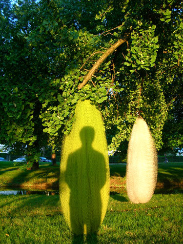 Cocoons | Installation view | Bois De Boulogne, Paris, July 2005