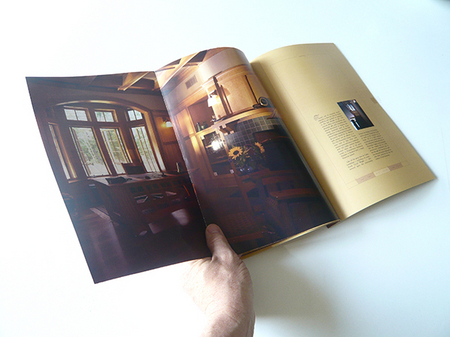 Gatefolds allow readers to feel the expanse of the great rooms.