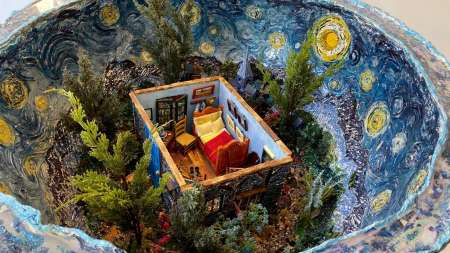 The Starry Night Geode |Interior view
