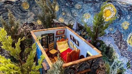 The Starry Night Geode | Interior view