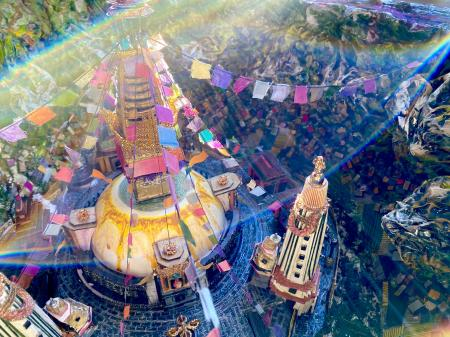 The Swayambhunath Geode | Interior view with lens flare
