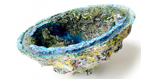 "The Hong Kong Geode | 2019 | Multimedia construction for floor or pedestal | 12"" X 33"""