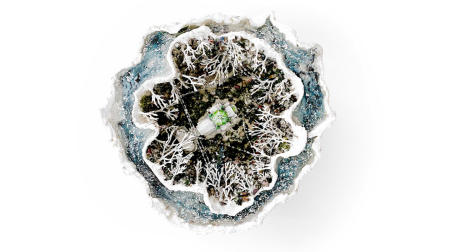 The Ice Storm Geode | Aerial view