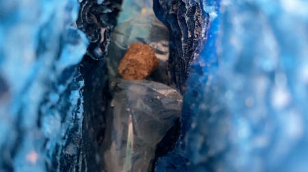 The Blue Coral Geode | Interior detail