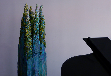 "Studio View | An Original Spires Sculpture | 16.5"" X 16.5"" X 84"" 